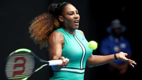 Serena Williams' Australian Open campaign is off to a hot start. Picture: Getty Images