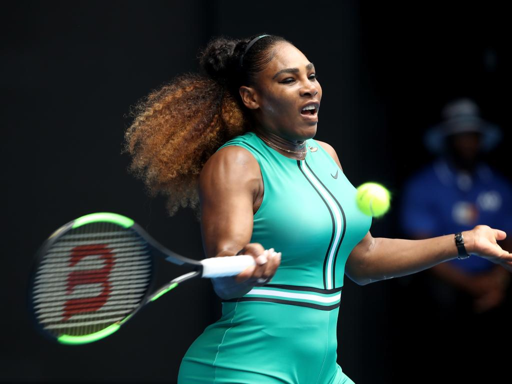Serena Williams in action at the Australian Open on Tuesday. Pic: Getty Images