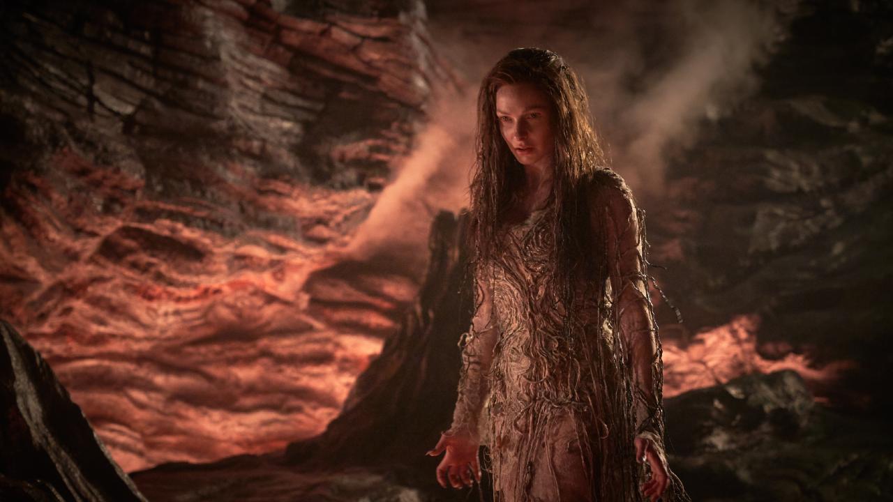 Rebecca Ferguson as the evil Morgana.