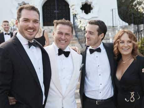 Peter Stefanovic, Karl Stefanovic, Tom Stefanovic and Elise Pointon. Picture: Instagram