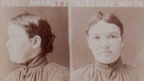 Harriet Adderley's prison mugshot, 1904. Picture: Public Records Office of Victoria