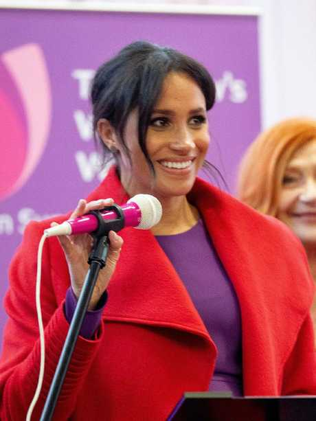 The Duchess of Sussex visits 'Tomorrow's Women Wirral' Charity in Birkenhead. Picture: Charlotte Graham/Getty