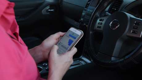 Australia has one for the highest fines for using a mobile phone while driving. Picture: Keri Megelus