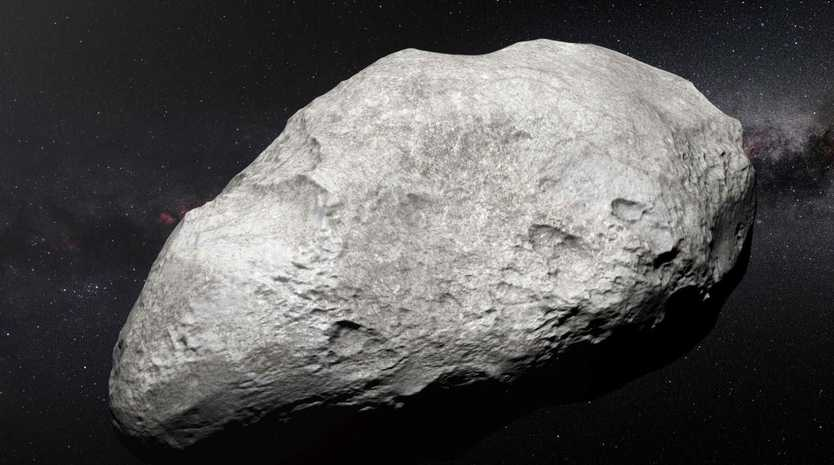 Three asteroids are set to fly by earth tomorrow. Picture: AFP