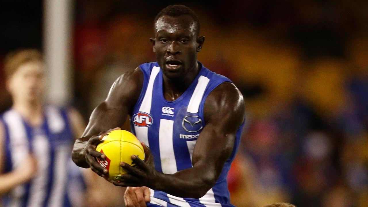 Majak Daw in action for North Melbourne.