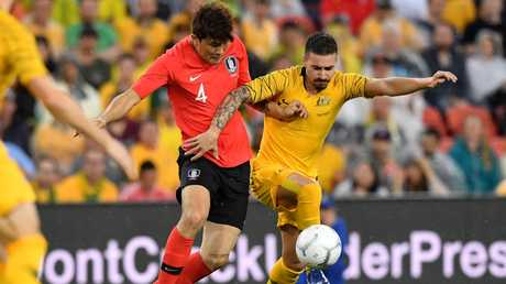 Jamie Maclaren is set to start against Syria. Picture: AAP