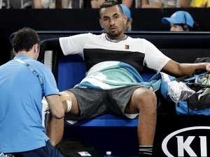 Kyrgios crashes out: 'I've just given up'