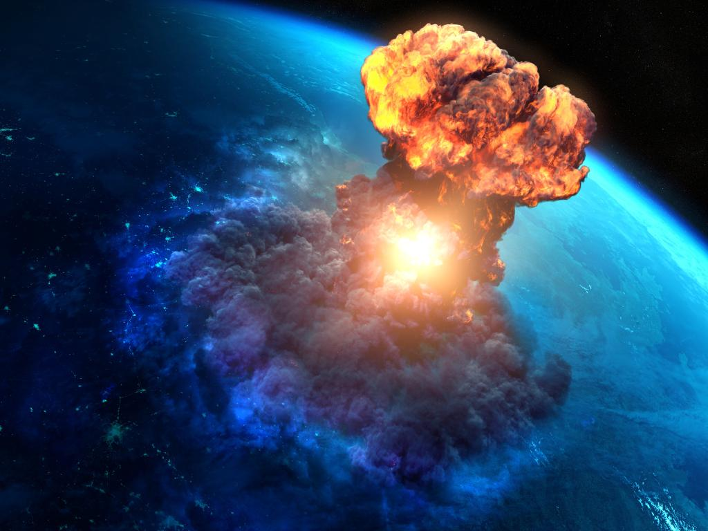The largest of the asteroids could cause catastrophe if it hit earth, but NASA expects it will safely sail by. Picture: Supplied
