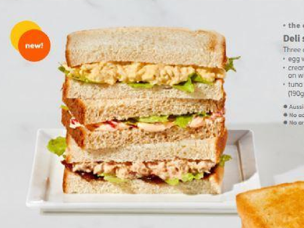 This is what the sandwiches were meant to look like. Picture Jetstar