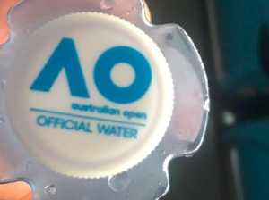 Water bottles spark outrage at Australian Open