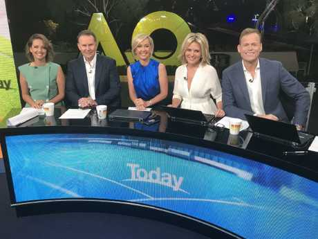 First day of the new look Today show line-up. Picture: Today
