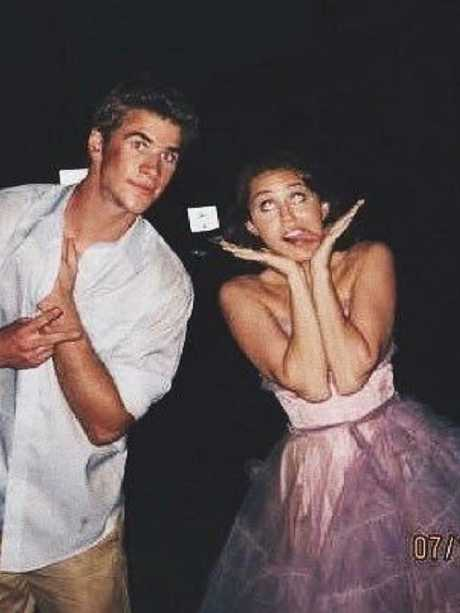 Miley and Liam, 10 years ago.