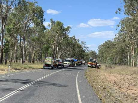 A Toowoomba based RACQ Lifeflight Rescue helicopter airlifted two male patients after a single-vehicle rollover near Boondooma Dam.