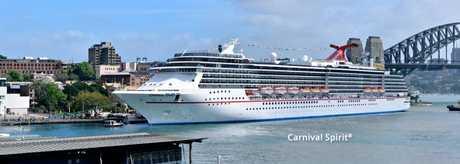 The Carnival Spirit cruiseliner.
