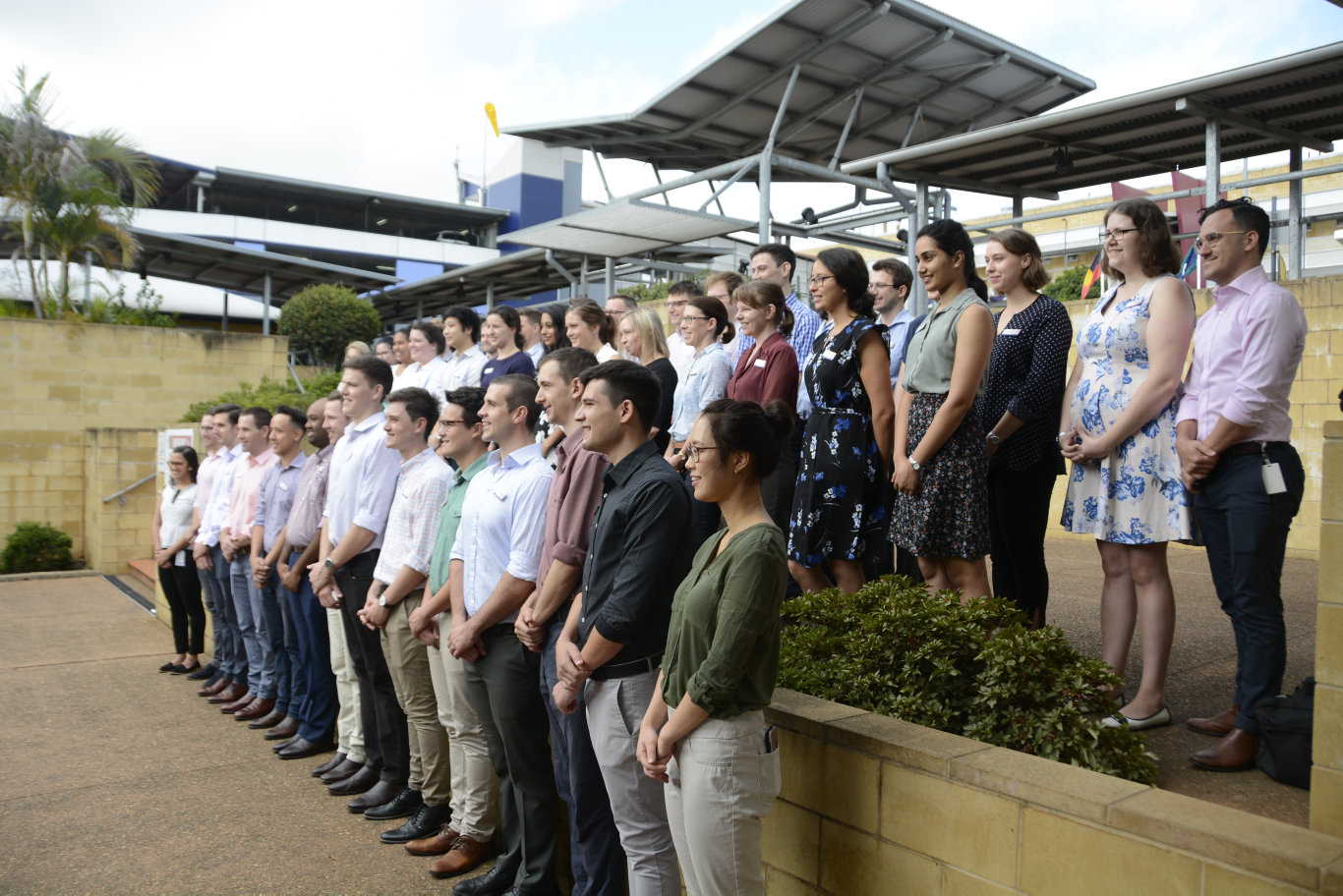 The new cohort of recruits for the Toowoomba Hospital in 2019.