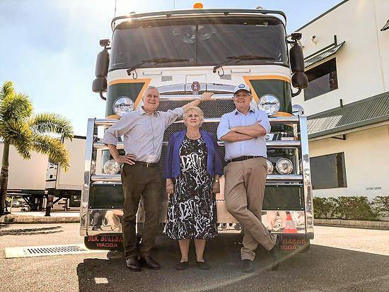 Deputry PM Michael McCormack, Michelle Landry and PM Scott Morrison announce $800 million for the Rockhampton Ring Rd.