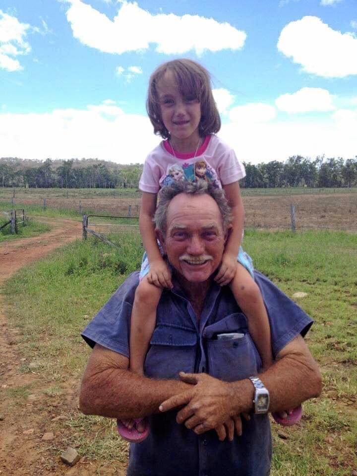 Reg Kerle with recently deceased great-granddaughter Sophie.