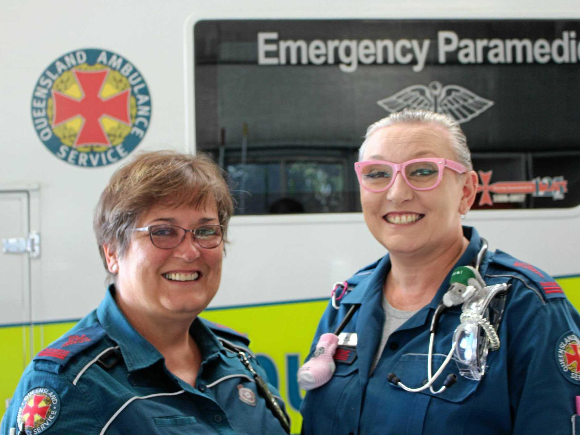 Paramedics Ginny Lovelady and Mel Connolly