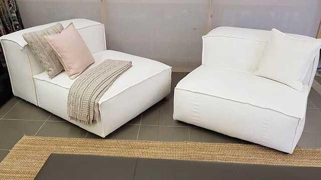 Bespoke Australian handcrafted linen furniture from www.nobleandjones.com.au.
