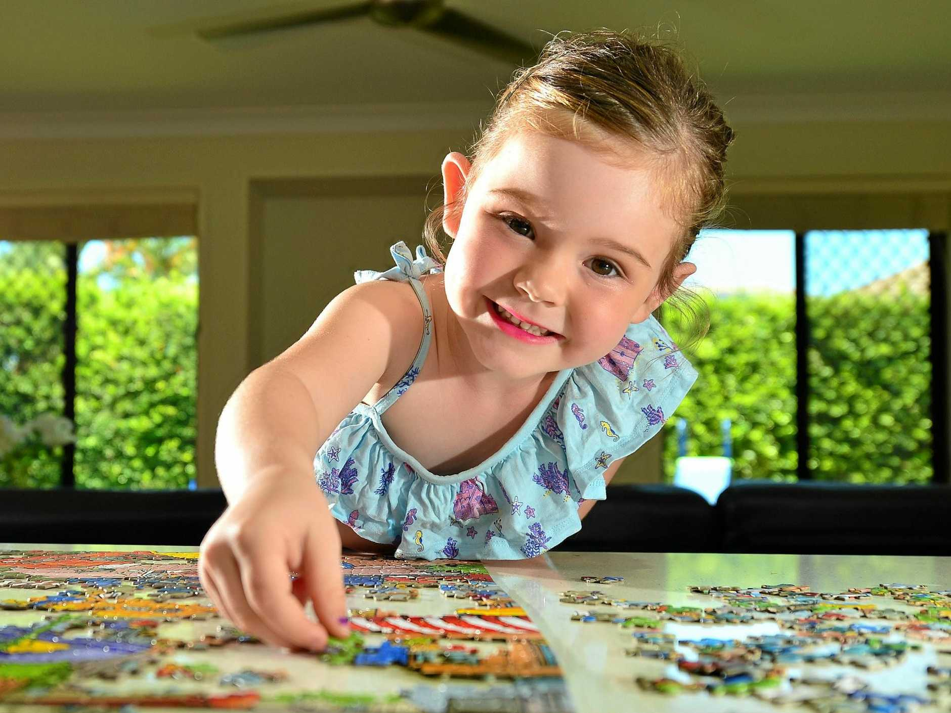SMART KID: Eloise Rogers, 4, has just been given an Australian Mensa membership on account of her huge IQ of 132. The little girl wants to be a vet when she's older.
