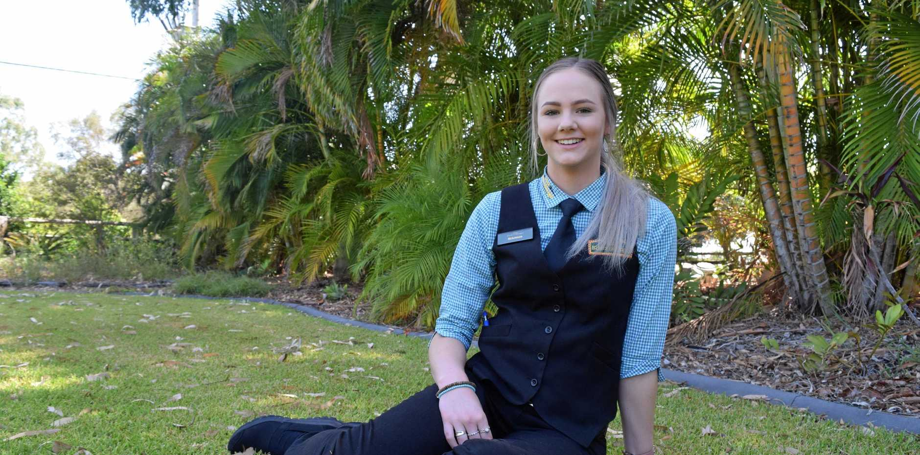 Emerald's McKennan McIndoe was has been awarded a $22,500 scholarship to the International College of Hotel Management in South Australia.
