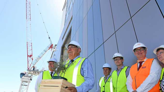 Hospital upgrade hits new heights as tower topped