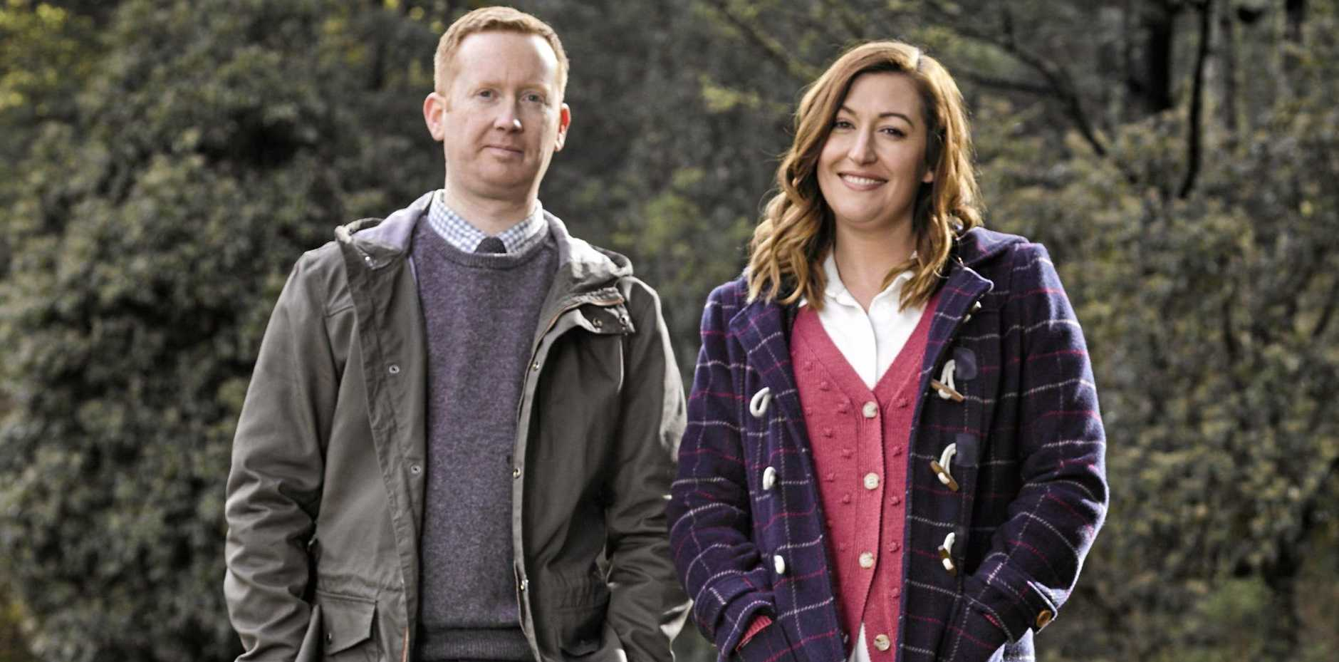 Luke McGregor and Celia Pacquola return as Daniel and Emma in season three of Rosehaven.
