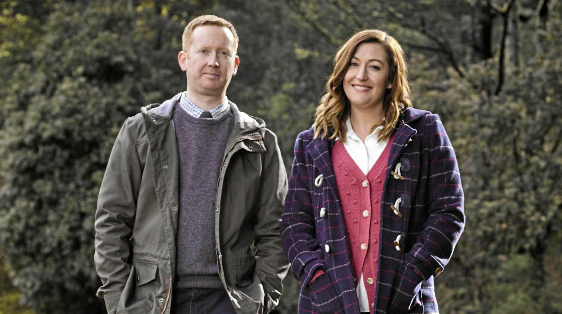 Luke McGregor and Celia Pacquola return as Daniel and Emma in season three of Rosehaven.