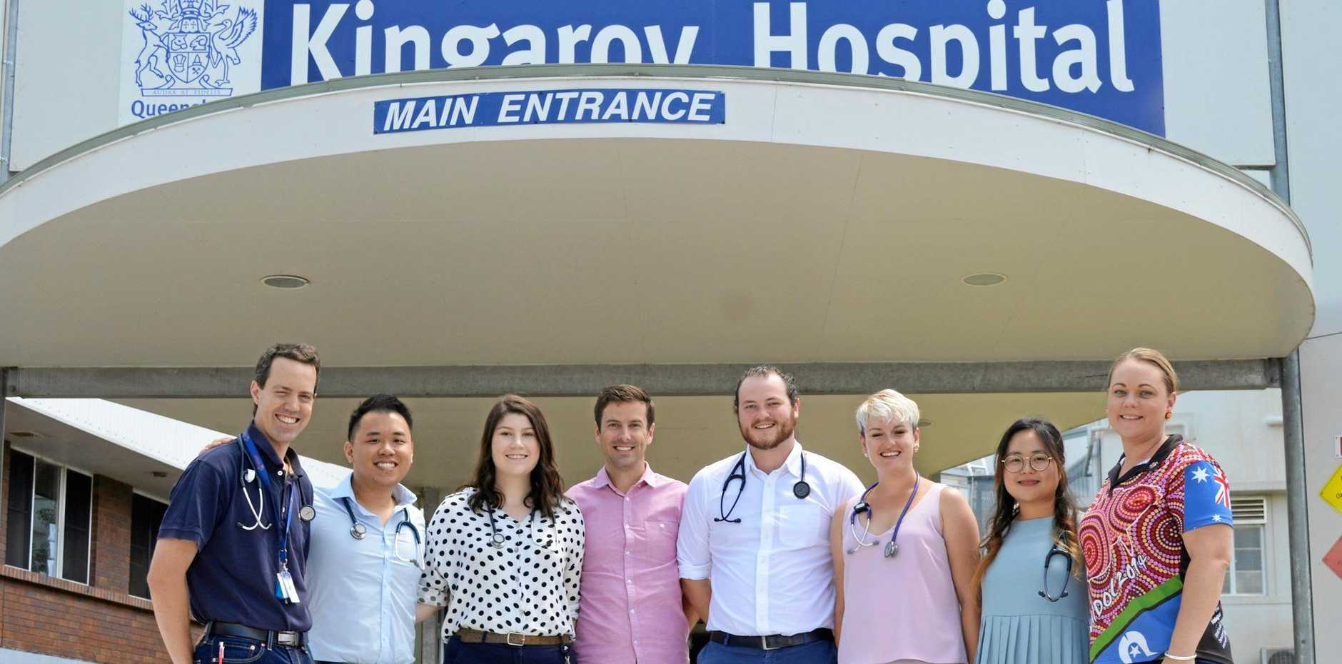 READY TO LEARN: Griffith University medical students are ready to work alongside doctors at Kingaroy Hospital.