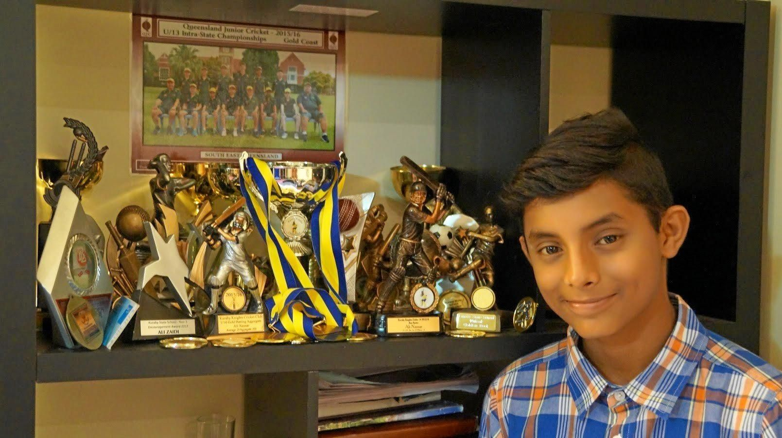 TOP TALENT: 14-year-old Ali Nasar Zaidi is committed to his dream of one day playing cricket for Australia.