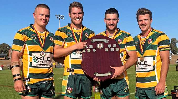 Kyle Kennedy, Joe Besgrove, Michael Dwane and Sam Grant were part of the winning Northern Rivers team in the NSW Country Rugby League Championships last year.