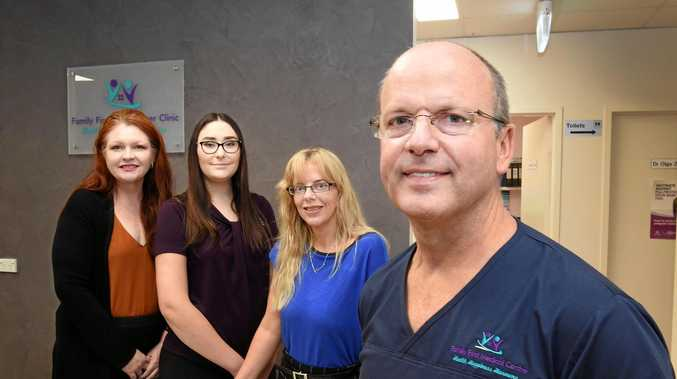 Family First Medical Centre staff Jennifer Ford, Claudia Danaher, Carrie Norval with Dr Wayne Norval.