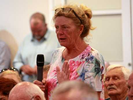 A number of Warwick RSL Memorial Club members voiced their opinion respectfully in Kings Theatre on the night.