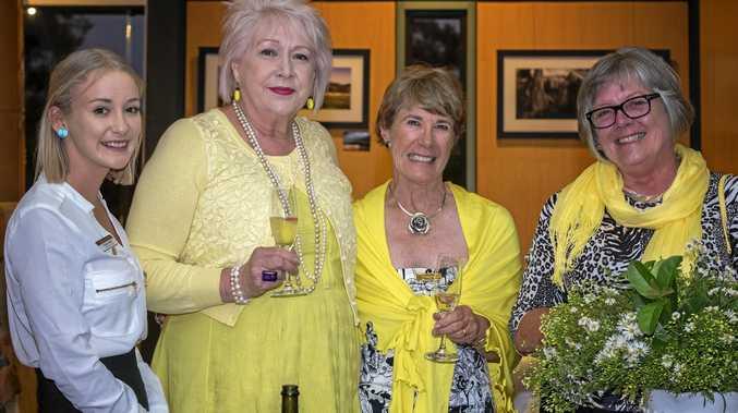 BRIGHT NIGHT: Brianna Woods, Philomena Brownjohn, Peggy Channon, Denice Arlidge at last year's yellow dinner.