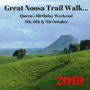 The Great Noosa Trail Walk has become an iconic annual event for the Queensland Queen's Birthday weekend on 5 to 7 October.