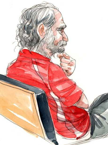 Robert John Fardon in court in 2014. Artist: Bentley
