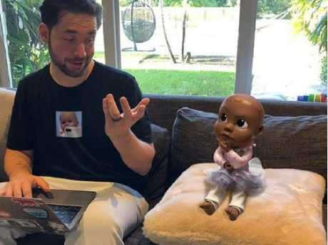 Olympia's father, Alexis Ohanian, appears to operate the doll's Instagram page.