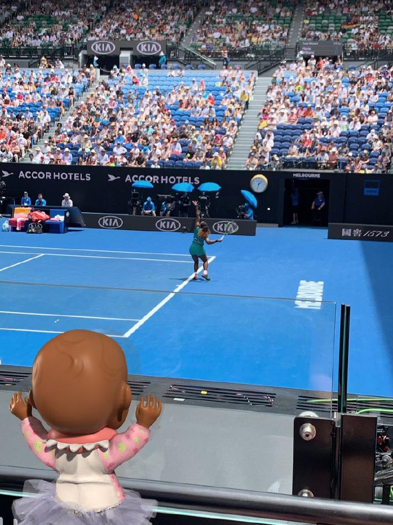 Doll Qai Qai at the Australian Open.