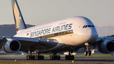 The children were on board a Singapore Airlines flight.