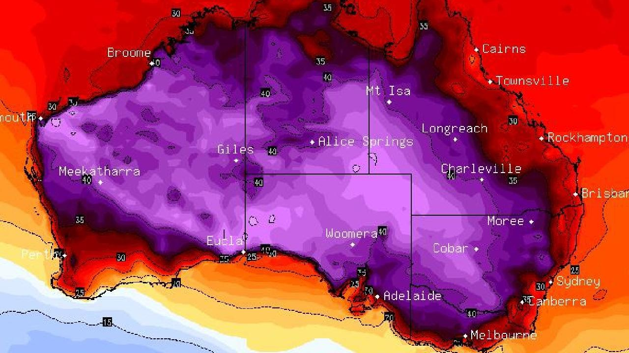 A heatwave is set to sweep through the southern states. Picture: Sky News Weather