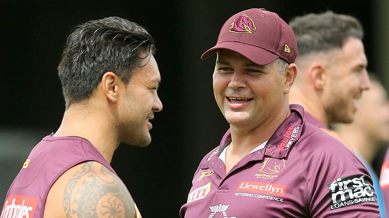 Coach Anthony Seibold has mixed things up at Broncos training.