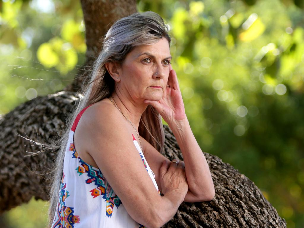 Sharon Tomlinson, a survivor of Robert Fardon who has been released from jail. Picture: AAP/Steve Pohlner