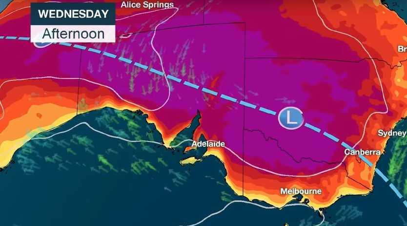 The unprecedented heatwave is reaching its peak across eastern Australia. Picture: BOM