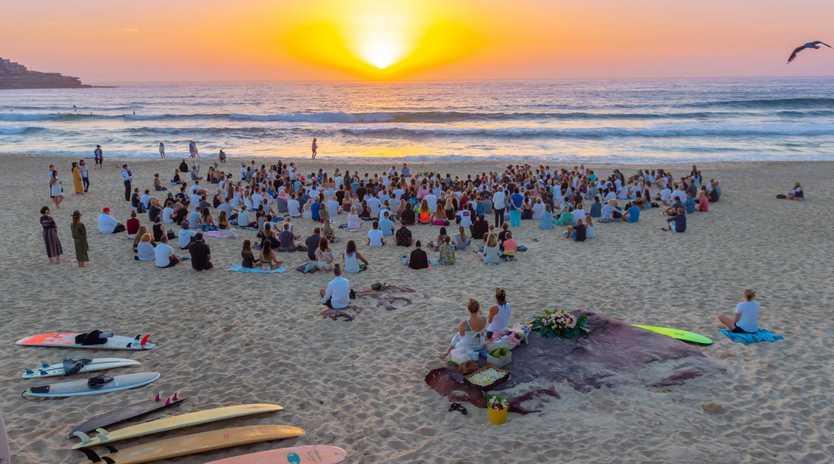 Annalise Braakensiek Memorial held at Bondi Beach around 6am Wednesday January 16 Image / Monique Harmer