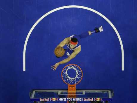 Ben Simmons' confidence is sky high. Picture: Matt Slocum/AP