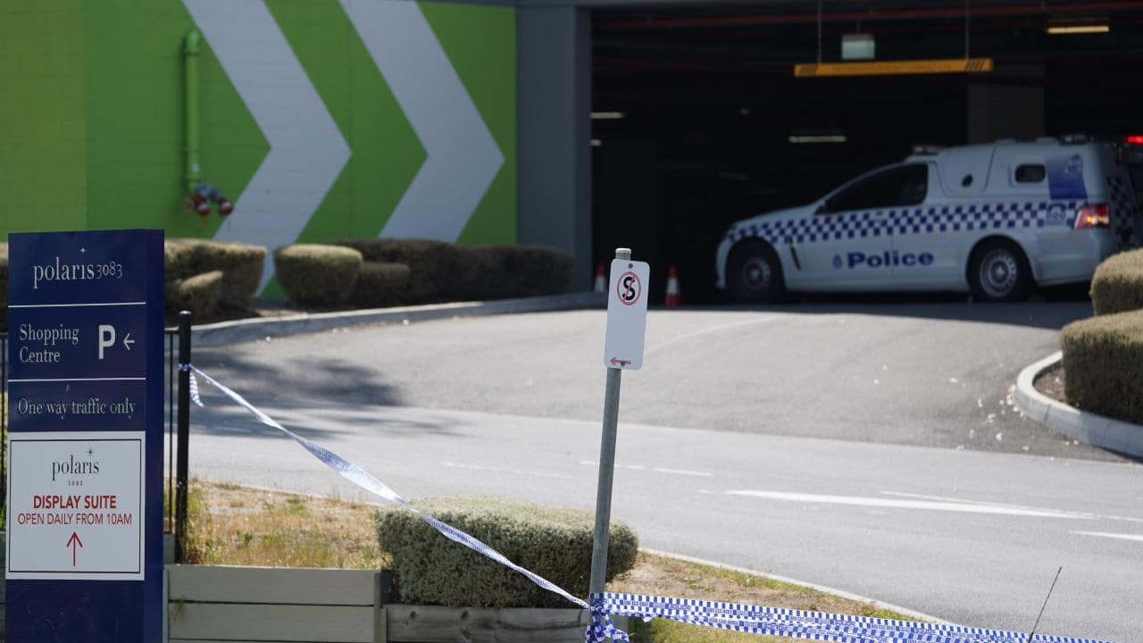 Dozens of police are at the shopping centre. AAP Image/Stefan Postles