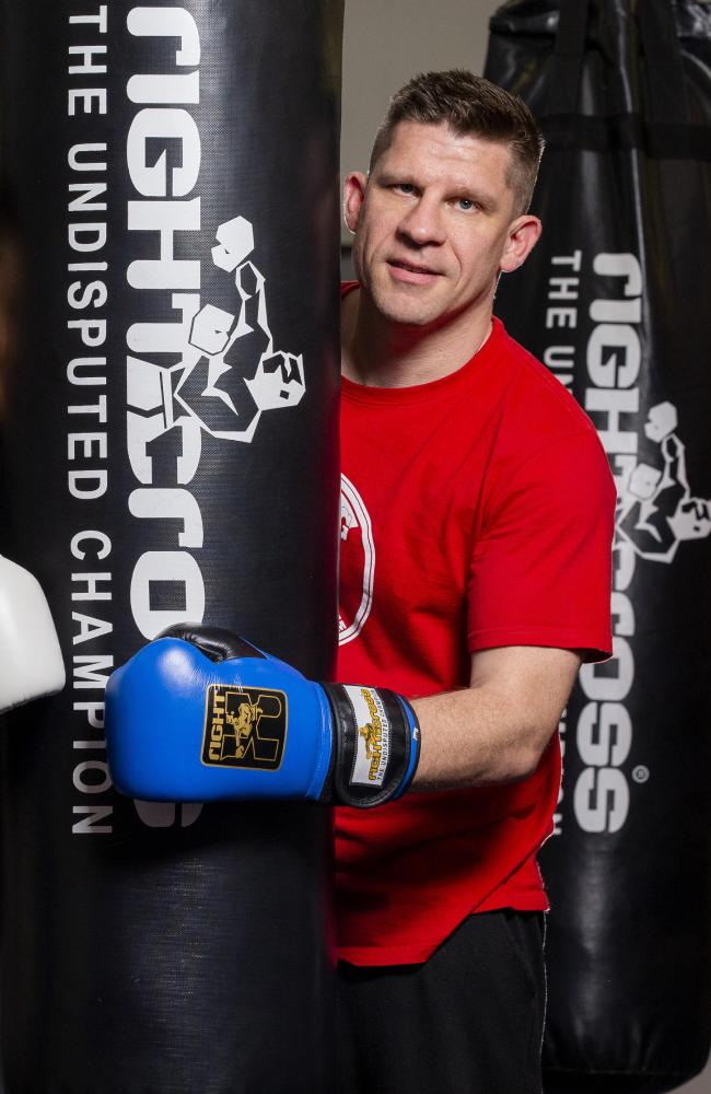 Gareth Williams from The Boxing Shop. (AAP Image/Richard Walker)