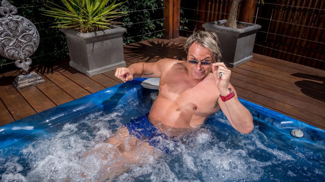 AFL legend Warwick Capper at home in Melbourne. Picture: Jake Nowakowski