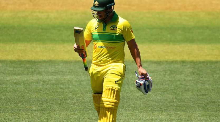 Aaron Finch has been dismissed twice for six in the first two ODIs. Picture: Getty Images