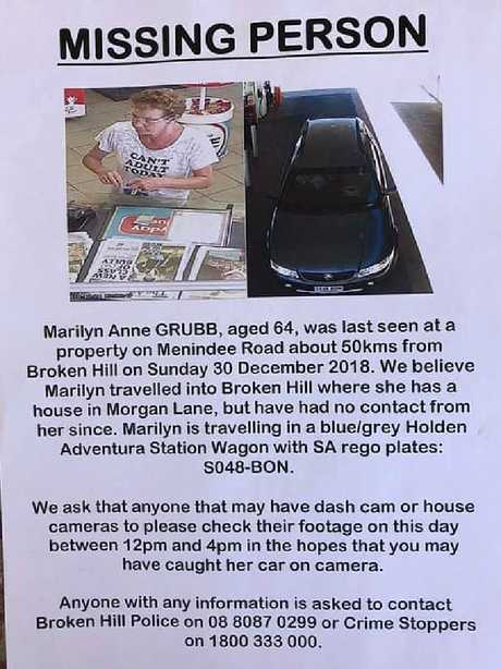 Her family made up posters after she vanished on December 30.